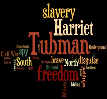Harriet Tubman Wordle Cloud