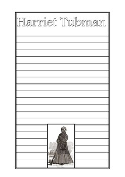 Harriet Tubman Writing Paper