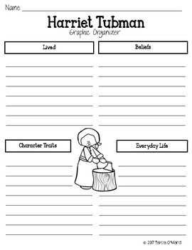 Harriet Tubman Writing Prompt