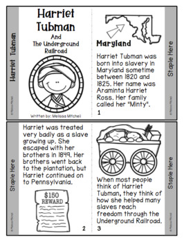 Harriet Tubman and the Underground Railroad Mini-Unit for Black History Month