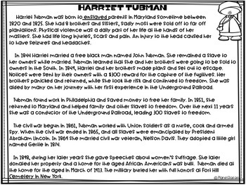 Harriet Tubman biography civil rights black history civil war famous Americans