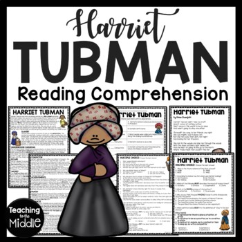 Harriet Tubman biography, questions, documents, poem, Blac