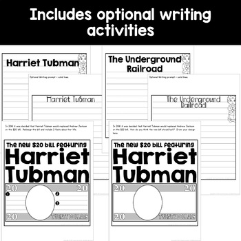 Harriet Tubman craft activity (Black History; the Underground Railroad)