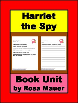 Harriet the Spy Book Unit