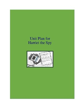 Harriet the Spy Complete Literature and Grammar Unit