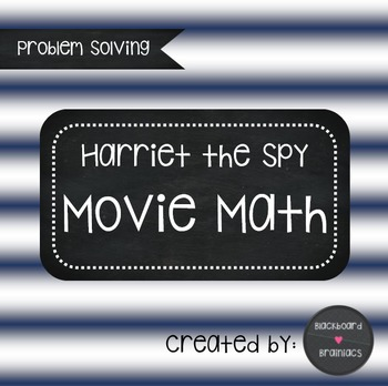 Harriet the Spy Movie Questions Fractions Decimals Problem Solving
