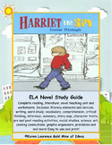 Harriet the Spy by Louise Fitzhugh ELA Novel Reading Study Guide