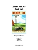 Harris and Me Book Unit - comprehension questions, writing