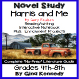 Harris and Me Novel Study & Enrichment Project Menu