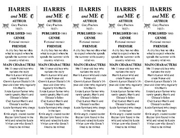 "Harris and Me edition of Bookmarks Plus: Fun ""freebie""; handy reading aid!"