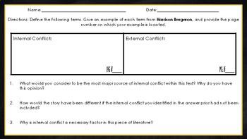 Harrison Bergeron: Conflict Chart