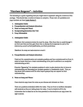 Harrison Bergeron - Lessons Including Final Essay