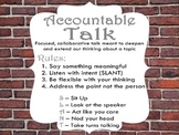 Harrison Bergeron Post Reading Accountable Talk/ Speaking and Listening Activity