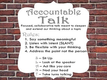 Harrison Bergeron Post Reading Accountable Talk/ Speaking
