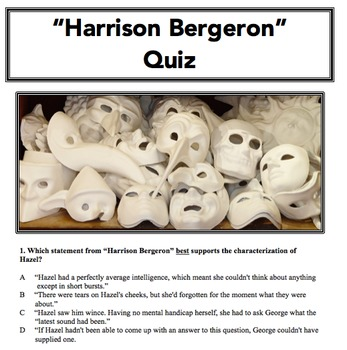 """Harrison Bergeron"" Quiz"