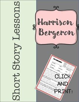 Harrison Bergeron Short Story Mini Unit