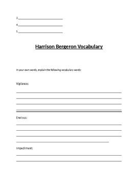 Harrison Bergeron Test
