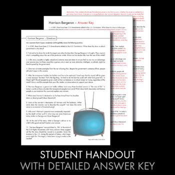 examination day and harrison bergeron essay Kurt vonnegut's short stories essays are academic essays for citation these papers were written primarily by students and provide critical analysis of various short stories by kurt vonnegut a close comparison of dp and harrison bergeron.