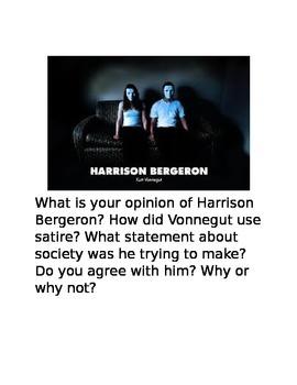 Harrison Bergeron Writing Prompts