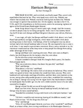 Harrison Bergeron by Kurt Vonnegut