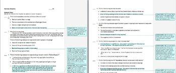 Harrison Bergeron by Kurt Vonnegut: Common Core study guide, quiz, and key