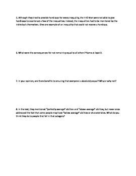 Harrison Bergeron - questions