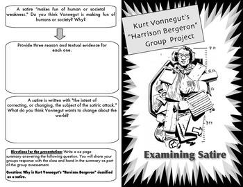 """Harrison Bergeron"" Examining Satire Group Activity"