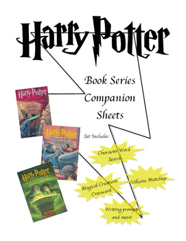Harry Book Book Series Companion Worksheets
