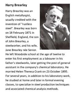 Harry Brearley Handout