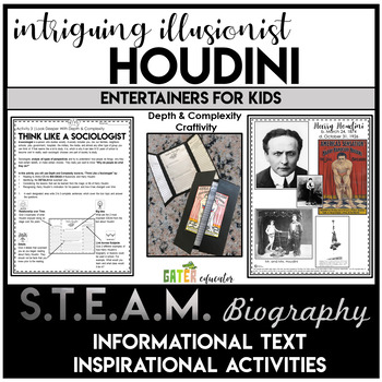 Harry Houdini | Close Read Biography | Depth and Complexity Activity