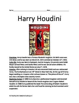 Harry Houdini - Famous Magician Full Life Story - Escapes