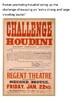 Harry Houdini Handout