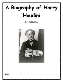 Harry Houdini Literature Guide and Novel Unit