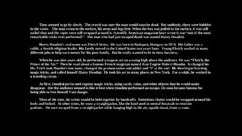 Harry Houdini - PowerPoint Presentation