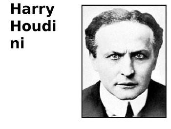 Harry Houdini Source Analysis Activity