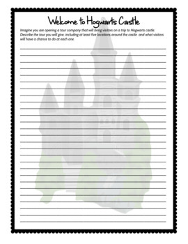 Harry Potter: 10 Creative Writing Printables with a focus on Sensory Details