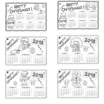 Harry Potter DIY - 2018 coloring calendars – Christmas gift