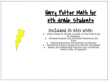Harry Potter 5th Grade Math Unit