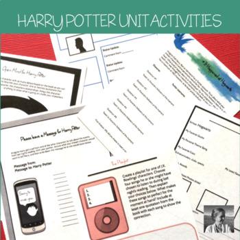 Harry Potter: 9 No-Prep ELA Activities Perfect for any Harry Potter Novel