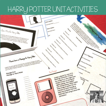 Harry Potter: 9 No-Prep ELA Activities Perfect for any Harry Potter Novel