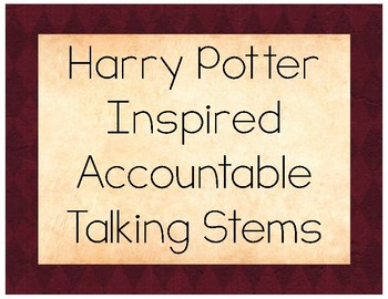 Harry Potter Accountable Talk Posters