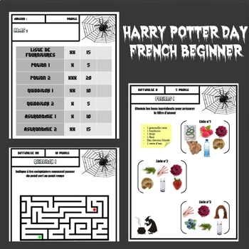 Harry Potter Activities - French beginner