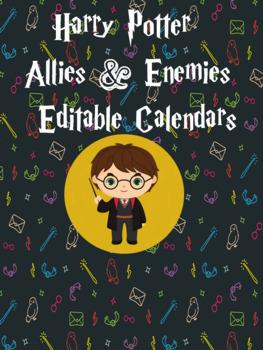 Harry Potter Allies & Enemies Editable Calendar