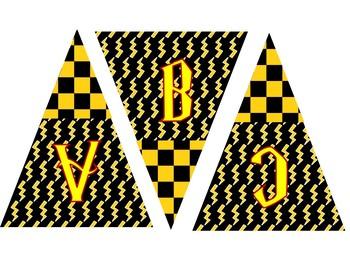 Harry Potter Alphabet Banner