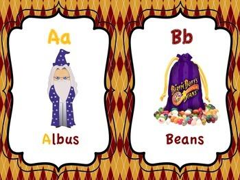 Harry Potter Alphabet Cards