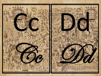 Harry Potter Alphabet Strip (cursive and print)