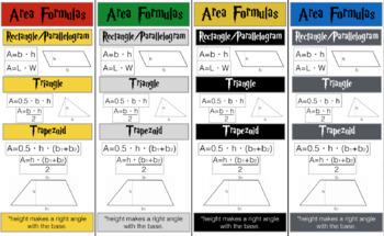 Harry Potter Area Formulas - 6.8(C)
