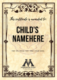 Harry Potter Award Certificate