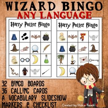 Harry Potter BINGO – ANY LANGUAGE
