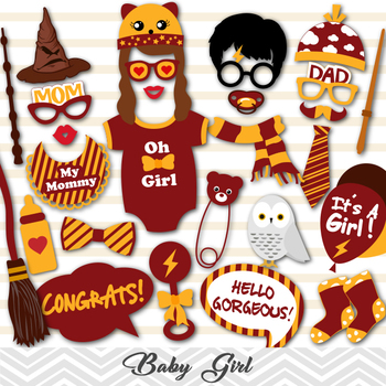 Harry Potter Baby Shower Photo Booth Props Its A Girl Baby Shower